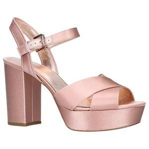 Michael Kors (7M) Soft Pink Satin Platform Heels